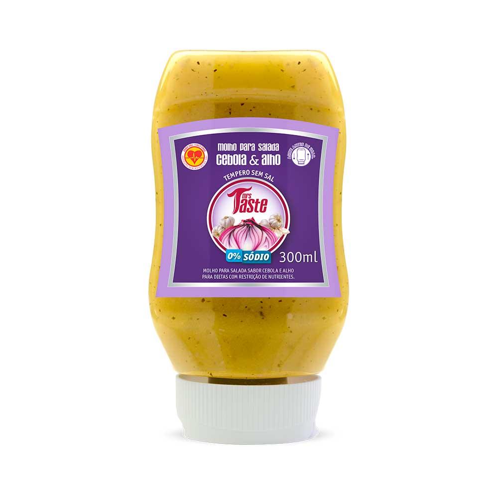 Molho para Salada Cebola e Alho - Mrs Taste