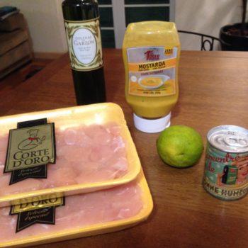 Ingredientes Frango ao Molho de Mostarda