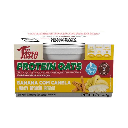 Protein Oats Banana com Canela - Mrs Taste